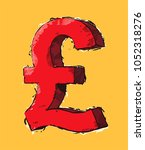 icon british currency sign...   Shutterstock .eps vector #1052318276