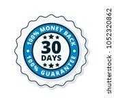 30 days money back illustration | Shutterstock .eps vector #1052320862