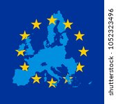 blue vector map of european...   Shutterstock .eps vector #1052323496