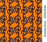 patten strips on  orange... | Shutterstock .eps vector #10523266