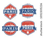 paris france travel stamp icon...   Shutterstock .eps vector #1052335226