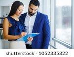 business colleagues having...   Shutterstock . vector #1052335322
