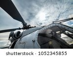 helicopter military pilots... | Shutterstock . vector #1052345855