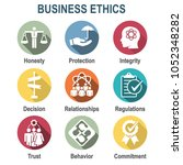 business ethics solid icon set... | Shutterstock .eps vector #1052348282