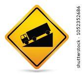 international downhill symbol... | Shutterstock .eps vector #1052352686