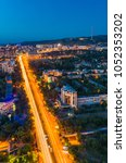 almaty city view | Shutterstock . vector #1052353202