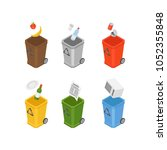 set of colourful isometric... | Shutterstock .eps vector #1052355848