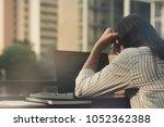 beautiful asia business woman  ... | Shutterstock . vector #1052362388