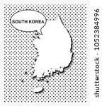pop art map of south korea   Shutterstock .eps vector #1052384996