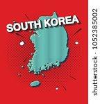 pop art map of south korea   Shutterstock .eps vector #1052385002