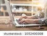 data management platform ... | Shutterstock . vector #1052400308