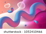 light pink vector pattern with... | Shutterstock .eps vector #1052410466