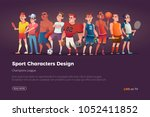 set of different characters of... | Shutterstock .eps vector #1052411852