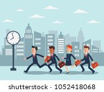 business people running in the... | Shutterstock .eps vector #1052418068
