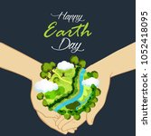 earth day. eco friendly concept.... | Shutterstock .eps vector #1052418095