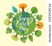 earth day. eco friendly concept.... | Shutterstock .eps vector #1052418116