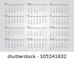 2013 new calendar in spanish | Shutterstock .eps vector #105241832