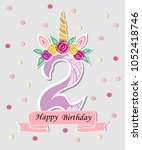 vector illustration with number ... | Shutterstock .eps vector #1052418746