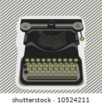 typewriter  object   vector | Shutterstock .eps vector #10524211