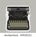 typewriter  object   vector | Shutterstock .eps vector #10524211