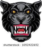 angry panther head  | Shutterstock .eps vector #1052422652