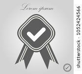 approved or certified medal... | Shutterstock .eps vector #1052424566