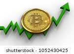3d illustration of bitcoin over ... | Shutterstock . vector #1052430425