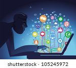 vector internet concept   with... | Shutterstock .eps vector #105245972