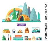 camping. vector illustration....   Shutterstock .eps vector #1052465765