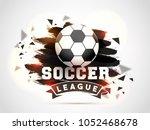 soccer championship league...   Shutterstock .eps vector #1052468678