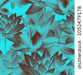 seamless tropical leaves and... | Shutterstock . vector #1052479178