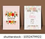 bridal shower invitation card...   Shutterstock .eps vector #1052479922