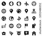 flat vector icon set   compass... | Shutterstock .eps vector #1052488352