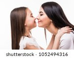 portrait of happy mother and... | Shutterstock . vector #1052494316