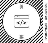 code editor icon | Shutterstock .eps vector #1052501228