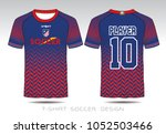 uniform football design. red...   Shutterstock .eps vector #1052503466