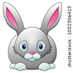 cute rabbit cartoon isolated on ... | Shutterstock .eps vector #1052506415