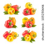 collection of bell peppers | Shutterstock . vector #105250646