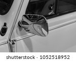 the part of an old car in retro ... | Shutterstock . vector #1052518952