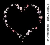 vector confetti background... | Shutterstock .eps vector #1052525876