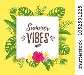 vector cartoon style summer... | Shutterstock .eps vector #1052531225