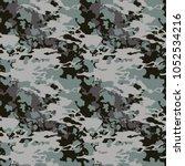 seamless fashion dusty blue ...   Shutterstock .eps vector #1052534216