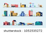 set of city buildings. bank ... | Shutterstock .eps vector #1052535272
