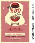 barbecue poster  flyer ... | Shutterstock .eps vector #1052538578