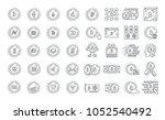 vector graphic set. 40x40... | Shutterstock .eps vector #1052540492