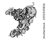 lace flower element | Shutterstock .eps vector #1052545826