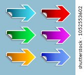 the color arrow set on the... | Shutterstock .eps vector #1052553602