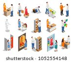 commercial consumers during... | Shutterstock .eps vector #1052554148
