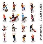rock stars set of isometric...   Shutterstock .eps vector #1052554286