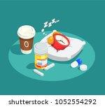 hypnotics drugs isometric... | Shutterstock .eps vector #1052554292